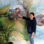 Maľba Dinosaurus